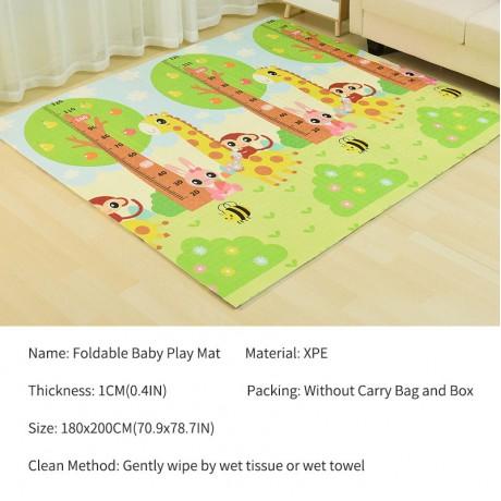 180X200CM Baby Mat 1CM Thickness Cartoon XPE Kid Play Mat Foldable Anti-skid Carpet Children Game Mat