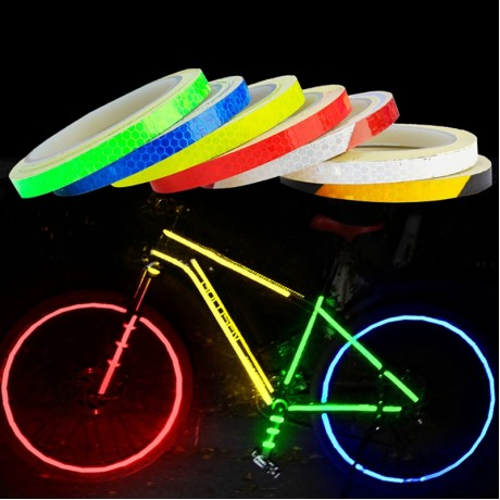 1PC 8 Meter Car Styling Reflective Stripe Tape Motorcycle Bike Body Rim Wheel Stripe Tape Stickers Decorative Blue/Red/Yellow