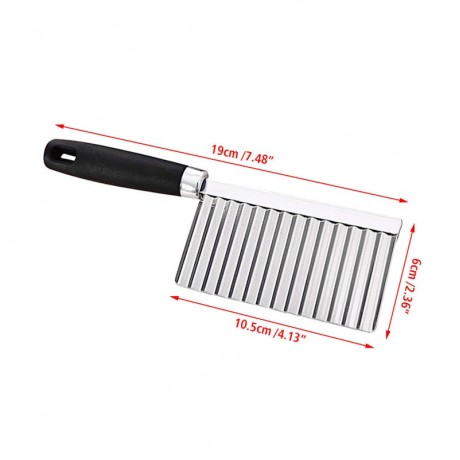 2020 New Kitchen Knives Stainless Steel Vegetable Fruit Wavy Cutter Potato Cucumber Carrot Waves Cutting Slicer Tools