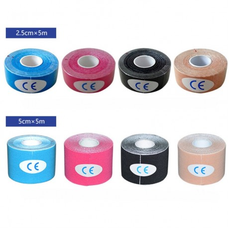 5 Size Kinesiology Tape Muscle Bandage Sports Cotton Elastic Adhesive Strain Injury Tape Knee Muscle Pain Relief Stickers