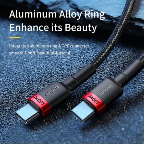 BASEUS 100W Usb C untuk USB Tipe C Kabel Usbc PD Cepat Charger Kabel USB-C Tipe-C Kabel untuk Xiaomi Mi 10 Pro Samsung S20 Macbook Ipad