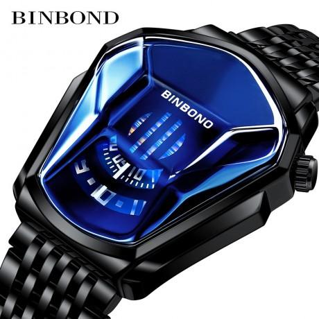 Baru BINBOND Top Brand Mewah Militer Fashion Olahraga Watch Pria Emas Jam Tangan Pria Jam Kasual Chronograph Jam Tangan