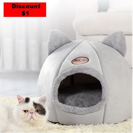 Baru Dalam Kenyamanan Tidur Di Musim Dingin Kucing Kecil Mat Keranjang untuk Cat Rumah Produk Hewan Peliharaan Tenda Cozy Gua tempat Tidur Indoor Cama Gato