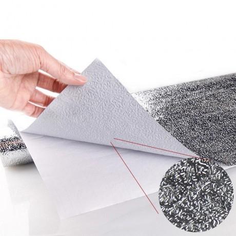 Dapur Minyak Tahan Stiker 40x10 0/500Cm Aluminium Tahan Air Dapur Diri Perekat Stiker Dinding Wallpaper dropshipping