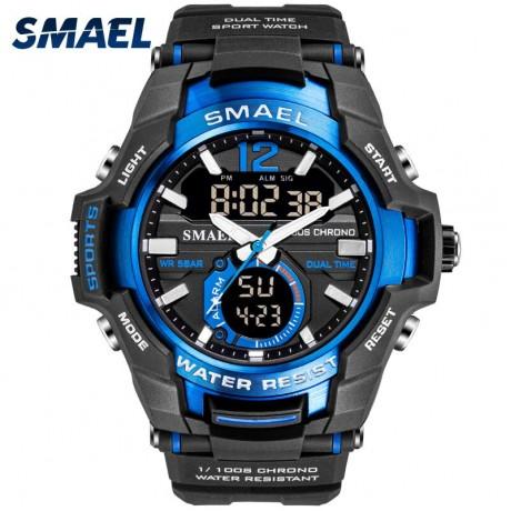 Jam Tangan Pria SMAEL Sport Watch Tahan Air 50M Jam Tangan Pria Warna Militar 1805 Pria Jam Digital Militer Army Watch