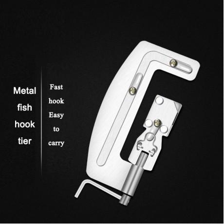 Semi Otomatis Memancing Kait Line Tingkat Mesin Portable Stainless Steel Ikan Hook Line Knotter Mengikat Mengikat Memancing Aksesoris