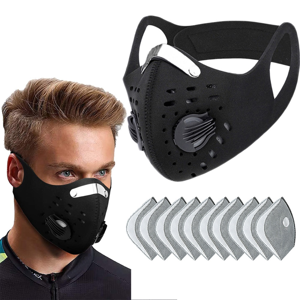 Sport Face Mask With Filter Activated Carbon PM 2.5 Anti-Pollution Running Training Facemask MTB Road Bike Cycling Mask D30