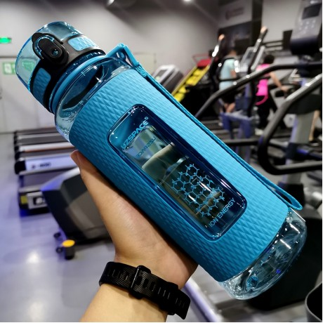 UZSPACE Sport Water Bottles Portable Gym Anti-fall Leak-proof Large Capacity Fitness Kettle Tritan Plastic Drink Bottle BPA Free