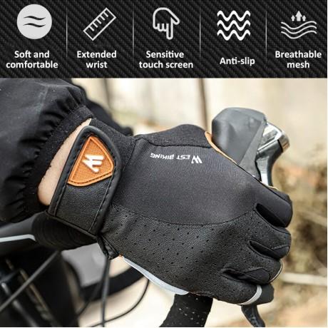 WEST Bersepeda Olahraga Bersepeda Sarung Tangan Layar Sentuh Pria Wanita Sarung Tangan Musim Dingin Windproof MTB Sepeda Motor Ski Sarung Tangan