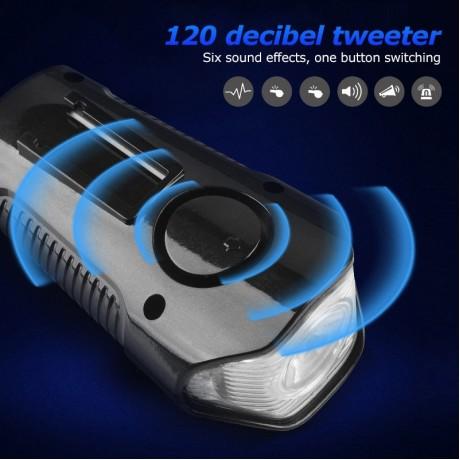 Waterproof Bicycle Light USB Charging Bike Front Light Flashlight Handlebar Cycling Head Light w/ Horn Speed Meter LCD Screen
